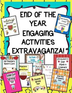 EngagingLessons  from  ENTIRE Shop 50% OFF! End of the Year Engaging Activities Extravaganza! 120 Pages on TeachersNotebook.com -  (120 pages) - I have included some of my MOST fun, hands-on and simply Engaging   activities in this Wonderful Pack to give YOU tons of choices to make the end of the year a time for exploring using these Student centered Super Creative Activities