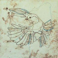 Birds kunstwerkjes van Marloes Duyker.