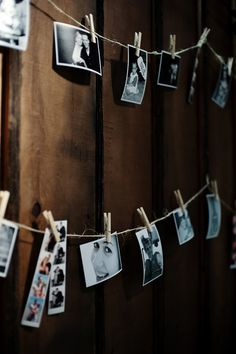 this is a fun display to have, old and new pictures of the bride and groom, together and apart; idea for the backs of every other pew at the church and/or decor for the reception site ~Nicole