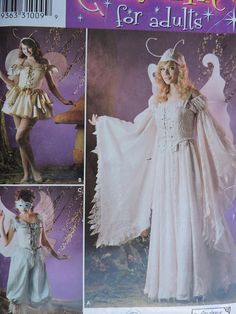 Items similar to Andrea Schewe Design Fairy Godmother Fairie Wings Costume Simplicity 0535 PATTERN Adult Sz. 14 - 20 on Etsy Dog Clothes Patterns, Sewing Patterns For Kids, Mccalls Sewing Patterns, Simplicity Sewing Patterns, Cool Patterns, Dress Patterns, Halloween Costume Patterns, Fairy Princesses, Pattern Fashion