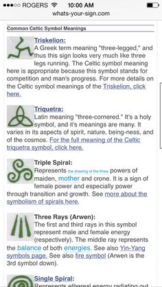 Celtic symbols. River is obsessed with spirals right now...