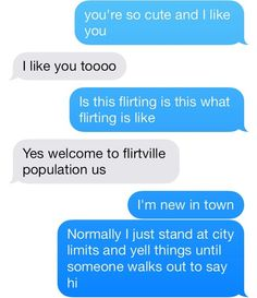 Now that's my kind of flirting