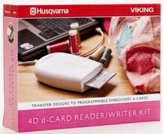 HUSQVARNA 4D d-card reader/writer kit - Lettore scrittore con scheda ricaricabile utilizzabile per la serie di macchine ricamatrici Husqvarna dotate di d-card.