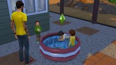 Sims 4 CC's - The Best: Functional Toddler pool by necrodogmtsands4s