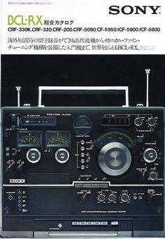 BCLラジオカタログ CRF-330K CRF-320 CRF-200 CRF-5090 ICF-5900 ICF-5800 ICF-6800 ICF-6700 ICF-5950 Sony Design, Id Design, Radios, Pocket Radio, Receptor, Audio Sound, Transistor Radio, Retro Advertising, Old Ads