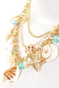 STUNNING Goldtone Sea Shore Shell Necklace and Earring Set by JC Necklaces, http://www.amazon.com/dp/B007C3USIM/ref=cm_sw_r_pi_dp_zb5Npb0SA4NZZ