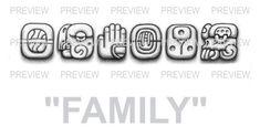 FAMILY Mayan Glyphs Tattoo Design G » ₪ AZTEC TATTOOS ₪ Aztec Mayan Inca Tattoo Designs Instant Download