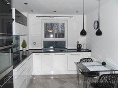 Черно-белая кухня — 101 фото в интерьере, дизайн и проекты гарнитуров