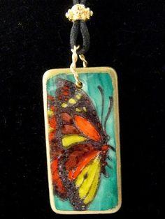 Beautiful Butterfly domino art pendant by KelliCraftStudio on Etsy, $24.00