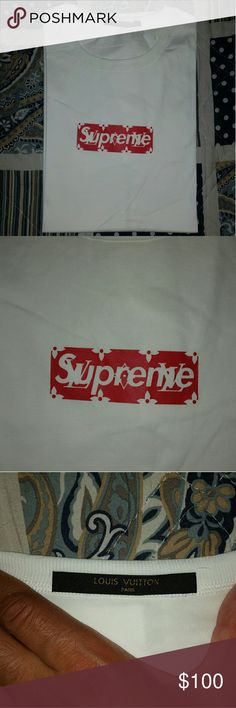 Supreme x LV t-shirt Price says it all. This looks just like the real one. Buyer gets a brand new, packaged tee. Supreme Shirts Tees - Short Sleeve