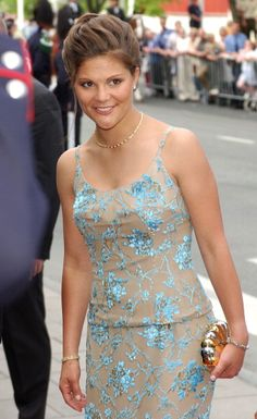 Crown Princess Victoria of Sweden arrives for a pre-wedding concert given by the Norwegian government in Olavshallen, Trondheim on May 22; wedding of Princess Märtha Louise of Norway and mr. Ari Behn on May 23, 2002