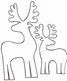 reindeer christmas cut out Christmas Projects, Felt Crafts, Holiday Crafts, Diy And Crafts, Applique Templates, Applique Patterns, Christmas Templates, Christmas Printables, Noel Christmas