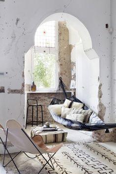I N S P I R A T I O N: earth tones, hammock inside