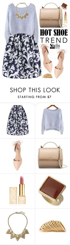 """""""Shein"""" by oshint ❤ liked on Polyvore featuring Ava & Aiden, Givenchy, Tory Burch, Dorothy Perkins, Banana Republic, Shaun Leane, flats, Sheinside and shein"""