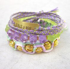 INSPIRE bohemian bracelets stacking friendship by pieceofART, $58.00
