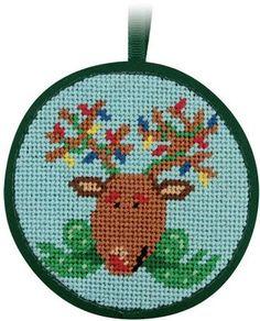 Reindeer Christmas Ornament - Needlepoint Kit Alice Peterson https://www.amazon.com/dp/B004LHUSTG/ref=cm_sw_r_pi_dp_x_hzJjybQCHFNPA
