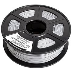 Absonic High Quality PLA 3D Printer Filament 1.75mm Diameter, Dimensional Accuracy  /-0.02 mm, 1Kg (2.2 lbs) Spool, Silver ** Check out the image by visiting the link.