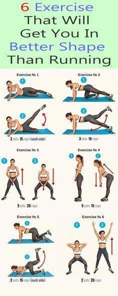 6 exercise that puts you in better shape - Yoga & Fitness - 6 Übung, die Sie in eine bessere Form bringt – Yoga & Fitness 6 Exercise that puts you in bett - Yoga Fitness, Fitness Workouts, Running Workouts, Fitness Diet, Fitness Motivation, Health Fitness, Fat Workout, Fitness Weights, Workout Challenge