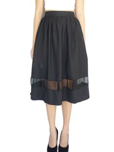 """Jane Midi Skirt with Mesh Insert / Tuesday Couture / Free Shipping ... www.lelong.com.my768 × 1024Search by image Size L - Length 27.5"""" , Waist 26"""" to 30"""" 