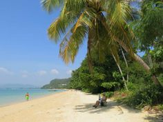 Ahh, nice! Relaxed on a deserted stretch of beach at Khao Kad Beach on Cape Panwa.