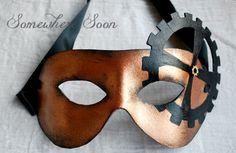 Handmade leather masquerade / steampunk mask