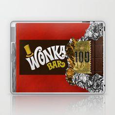 wonka chocolate bar with golden ticket Laptop & iPad Skin @pointsalestore #society6 #laptop #skin #case #Willywonka #Charlie #Chocolate #Chocolatefactory #Classic #Old #Vintage #Delicious #Food #Yummy #Retro #Charliebucket #Oompaloompa #Valentine #Love #Kids #Goldenticket