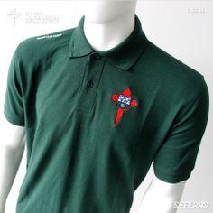 Polo Green RCF 13-14. - Polo oficial de Racing Club de Ferrol para la temporada 2013/2014, de la marca propia DEFERRO. Polo Shirt, Polo Ralph Lauren, Club, Mens Tops, Shirts, Fashion, Self Branding, Seasons, Moda
