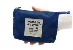 Small Wanna Be a Traveler Mesh Pouch