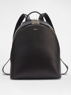 Tumbled Leather Backpack, BLACK DKNY | Bags and Shoes and Accents ... : dkny quilted rucksack - Adamdwight.com