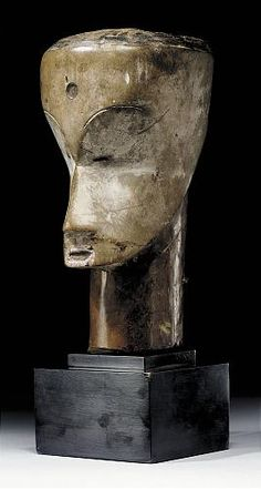 This exceptionally rare Fang head represents the head of an ancestor which  was used in the Ngan dance society in Northern Gabon or North-eastern Rio Muni by the Fang-Ntumu and the Fang-Fang.  The Ngan dance is an ancient dance of the Fang-Ntumu which is highly important to the moral structure of public village life,  and most importantly to the education of young people... - Fang style comparisons - RAND AFRICAN ART - READ!