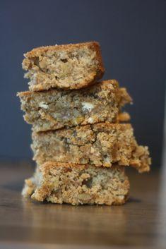 Brownie aux noix, chocolat blanc et sirop d'érable maison ! Et sans gluten !