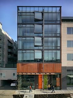 In Seattle's rapidly developing South Lake Union neighborhood, the Art Stable is a classic example of urban infill.