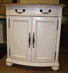 french country single sink bathroom vanities   Bathroom Vanity on Quality Bath Madison Vanity Antique White 30 Inch ...