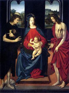 Piero di cosimo, sacra conversazione di montevettolini- Sainte Conversation, v. 1480 Villa Medicea di Montevettolini