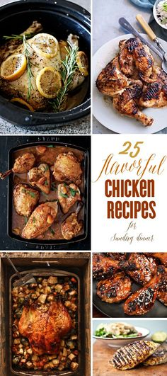 25 chicken recipes that are perfect for hosting Sunday dinner! For more brunch and dinner recipes, join Kim Byers at The Celebration Shoppe! Sunday Dinner Recipes Chicken, Sunday Recipes, Chicken Salad Recipes, Sunday Dinners, Chicken Ideas, Recipe Chicken, Brunch Recipes, Real Food Recipes, Cooking Recipes