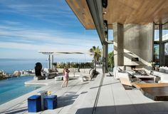 Stefan Antoni Olmesdahl Truen Architects (SAOTA) together with OKHA Interiors have designed the De Wet 24 House in Bantry Bay, South Africa.