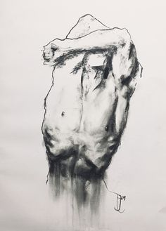 The third in a series of gesture drawings focusing on the male form, done in charcoal and pastel. I use the pastel to add detail to certain areas, and the charcoal to outline keep other areas minimal. Anatomy Sketches, Anatomy Drawing, Anatomy Art, Life Drawing, Figure Drawing, Painting & Drawing, Drawing Faces, Drawing Tips, Gesture Drawing Poses