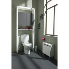 Probache meuble wc tag re bois gain de place pour for Meuble wc leroy merlin