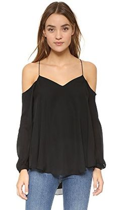 898597abe472b Haute Hippie Women s Cold Shoulder Blouse Slim Tie