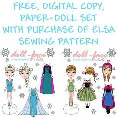 **FREE** Disney Frozen inspired, Elsa and Anna, paper-dolls!