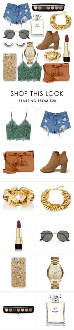 """Shoppers style"" by georginadent ❤ liked on Polyvore featuring MANGO, Boohoo, Kate Spade, Hollister Co., Dolce&Gabbana, Ray-Ban, Michael Kors, Marc Jacobs and Chanel"