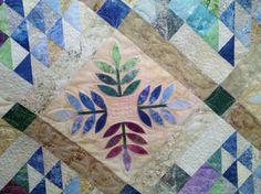 Nance's True Blue quilt. Longarmed by Le Ann Weaver of www ... : the log cabin quilt shop - Adamdwight.com