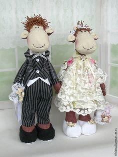 Купить Свадебная парочка - текстильная игрушка, обезьянка, мартышка, символ 2016 года, подарок
