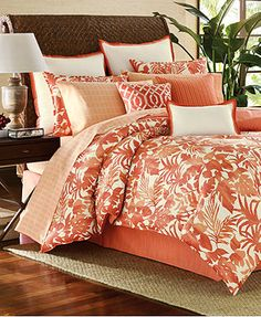 Tommy Bahama Home Palma Sola Comforter and Duvet Cover Sets (headboard and pillow display)