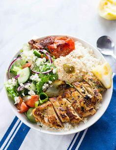 Greek-Inspired Chicken Rice Bowls