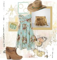 """""""Country Chic"""" by jamialee ❤ liked on Polyvore"""