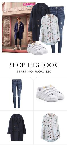 """""""CARNIVAL // Youngjae"""" by ebenita95 on Polyvore featuring H&M, adidas Originals, women's clothing, women, female, woman, misses, juniors, carnival and bap"""