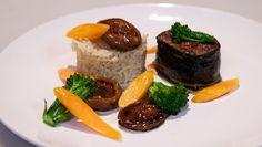 Tonijn met miso, pilav en shiitake