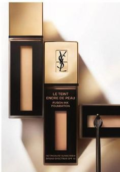 Yves Saint Laurent Beauty has recently developed the first exclusive liquid-to-pigment foundation collection: Le Teint Encre de Peau Ysl Foundation, Ysl Cosmetics, Yves Saint Laurent, Ysl Beauty, Beauty News, Makeup Package, Fusion Ink, All Natural Makeup, Cosmetic Tattoo
