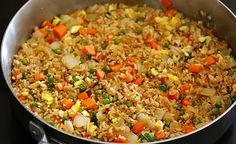 Helpful Reviews From Allrecipes.com    My first attempt ever at fried rice and it was really good. I took the advice of others and used frozen pea's and carrots, I heated the wok and used olive oil